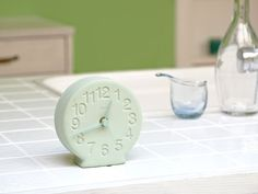 FLYMEe accessoire Lemnos 珪藻土の置時計(グリーン) / フライミーアクセソワ レムノス 珪藻土の置時計(グリーン)_3