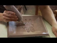 Clay Pottery Slab Building : Slip Trailing Clay Decorating