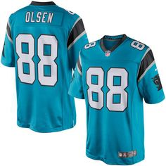 61c7893eb20cf Men s Carolina Panthers Greg Olsen Nike Blue Limited Jersey