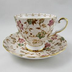 Vintage Cups, Vintage China, Vintage Tea, China Cups And Saucers, Teapots And Cups, Teacups, Bone China Tea Cups, China Art, China Patterns