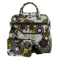 Vera Bradley Signature Print Travel Bag & Slim Cosmetic Case