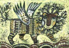 Дарья Герасимова Amazing Art, Folk Art, Moose Art, Lion, Creatures, Drawings, Illustration, Russia, Angeles