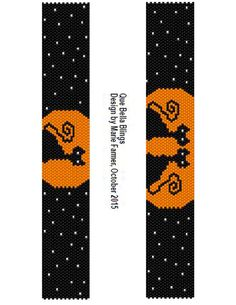 Halloween Cats Peyote Bracelet Tutorial                                                                                                                                                                                 More