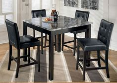 Brothers Fine Furniture Maysville Square Counter Height 5 Piece Dining Set
