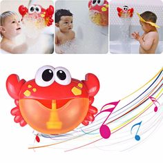 Frugal Bathtub Bubble Frog Baby Bath Bubble Toy Musical Toy Bubble Maker Nursery Rhyme Quality First Baby