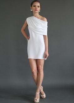 Gloria Shoulder drape dress