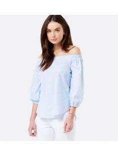 Carley Blouson Off Shoulder Top Chambray Blue - Womens Fashion Off Shoulder Tops, Off Shoulder Blouse, Fashion Forever, Shirt Blouses, Shirts, Forever New, Chambray, Cami, Autumn Fashion