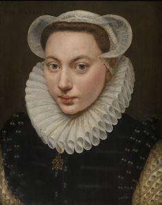 Frans Pourbus The Elder (Flemish, 1545-1581) Portret van Een Jonge Vrouw /Porträt einer jungen Frau /Portrait of a Young Woman), 1581, Size H: 40,5 cm W: 32,4 cm Oil on panel, Accession number 1907-E, Museum voor Schone Kunsten, Gent