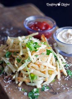 Truffle Parmesan Shoestring French Fries