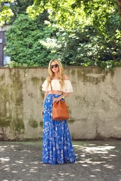 The ever lovely Blair Eadie in our Louie Printed Long Skirt!