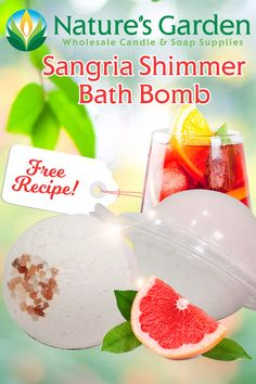 Free Sangria Shimmer Bath Bomb Recipe by Natures Garden