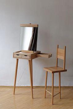 Wooden Dressing table 'Molbert' by Ana Tavartkiladze. Interior Design, Home…