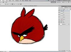 niceA Simple Way To Make Digital Painting Angry Birds #psd #tutorial #photoshop #graphic design by - www.psd5.com