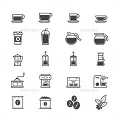 Coffee and Drink Icons. Download here: http://graphicriver.net/item/coffee-and-drink-icons/15867821?ref=ksioks