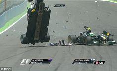 Mark Webber crash in Valencia 2010