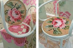Recycled Wicker chair tapestry