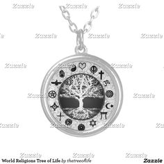 World Religions Tree Of Life Silver Plated Necklace #world #religions #tree #of #life #silver #plated #necklace