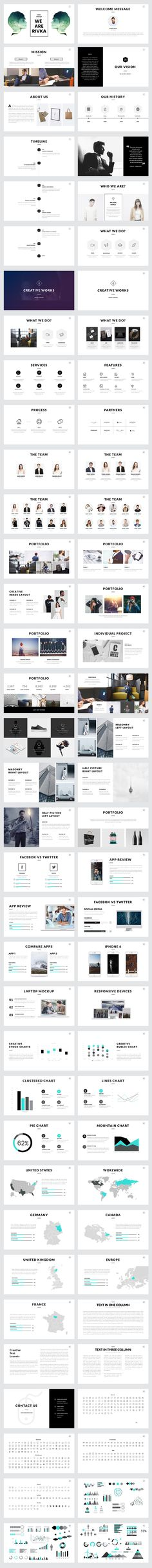 Rivka Minimal Powerpoint Template by Slidedizer on @creativemarket
