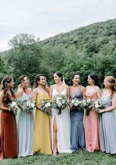 Pink bridal party dresses new ideas Bridal Party Dresses, Bridal Gowns, Wedding Dresses, Wedding Bouquets, Brides And Bridesmaids, Bridesmaid Dresses, Bridesmaid Inspiration, Wedding Dress Shopping, Vintage Bridal