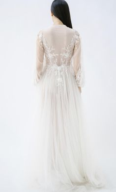Robe dress in ivory, Trulace Artistry