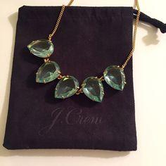 J. Crew Aquamarine Necklace New with tags J. Crew necklace (not factory). Gold with aquamarine color glass stones. J Crew Jewelry Necklaces