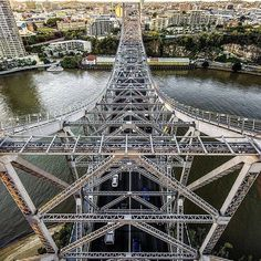 The Story Bridge in Brisbane Queensland Australia.  This is quite a different view.