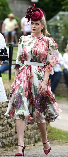 D&G model and muse Lady Kitty Spencer, pictured, also attended the family wedding...