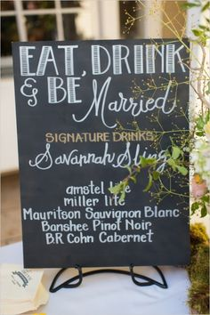 Like the idea of 2 signature drinks (1 for bride and 1 for groom) and then beer wine and champagne