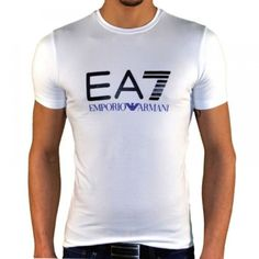 T-Shirt fashion homme Armani collection EA7 blanc