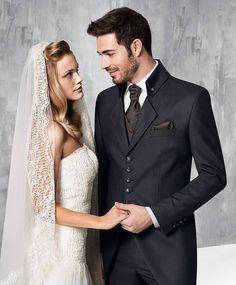 premium selection 99b5d be994 Hochzeitsanzug von TZIACCO by Wilvorst, braun, mit Cutabstich in .
