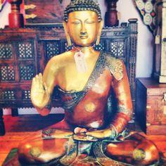 Brass Buddha statue