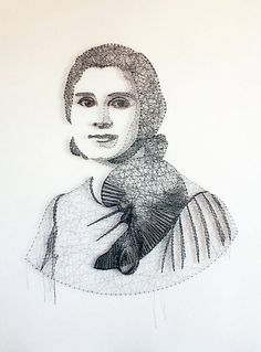 Portraits made from string by Pamela Campagna