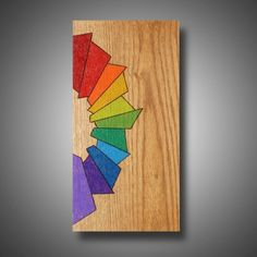 Hand Made Modern Abstract Art - Original Design Colored With Prismacolor Pencil - Joy 7.25 X 14.5 by Mud Horse Art | CustomMade.com