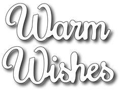 Frantic Stamper Precision Die - Warm Wishes,$7.49
