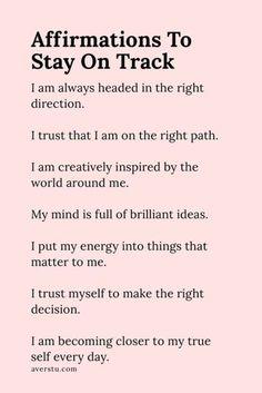 Affirmations Positives, Positive Affirmations Quotes, Self Love Affirmations, Morning Affirmations, Affirmation Quotes, Positive Quotes, Motivational Quotes, Inspirational Quotes, Quotes Quotes