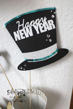 """""""Happy New Year 2015"""" - Stampin´ Up! Artisan DesignTeam BlogHop 01.01.2015 - Silvester-Deko mit viel Gold und Silber und Glitzerpapieren"""