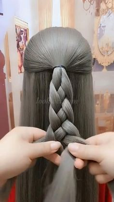 Step By Step Hairstyles, Easy Hairstyles For Long Hair, Cool Braid Hairstyles, Braids For Long Hair, Girl Hairstyles, Summer Hairstyles, Hair Up Styles, Medium Hair Styles, Hair Videos