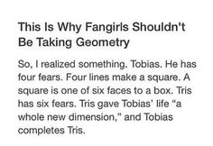Now this is my exuse to not taking geometry thanks divergent!!