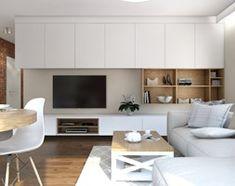 Mieszkanie Chmielna Park Gdańsk - Mały salon z jadalnią, styl rustykalny - zdjęcie od Inka Studio