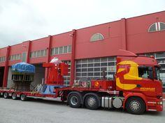 Sondertransport/Schwertransport von Turbinenteilen durch Europa mit einem unserer #Scania LKW´s