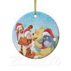 Winnie The Pooh & Friends Holiday Christmas Ornament