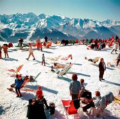 Verbier Vacation, Switzerland (Slim Aarons Estate Edition)   From a unique collection of landscape photography at https://www.1stdibs.com/art/photography/landscape-photography/