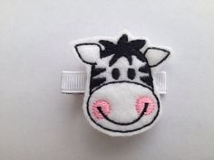 Adorable Zebra Hair Clip  Black and White by CuteAsaButtonbyAmy, $5.00
