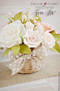"""Букет """"Нежность"""" с цветами из фоамирана - букет,букет в подарок,букет интерьерный"""