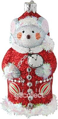 Good Night To All (Red) Patricia Breen Designs (Christmas Mouse, Red, Holidays, Noel)