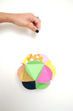DIY: paper ball ornaments