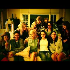 """""""Family Portrait,"""" Taylor Swift captioned this Instagram post from July 6, 2014. The star studded snap included actresses Emma Stone, Jaime King, Lena Dunham and Jessica Szohr among many others who gathered at Swift's Rhode Island home to celebrate the Fourth of July."""