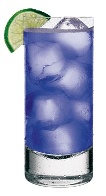 Blueberry Passion Mojito | 2 parts Seagram's Rum 2 parts Hiram Walker® Blueberry Passion Schnapps Juice of 1 large lime 4-6 mint leaves Splash of Club Soda