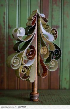 kunstzinnige kerstboom van papier maken