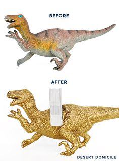 Swap It Like It's Hot: DIY Dinosaur Business Card Holder + Organizer   Desert Domicile